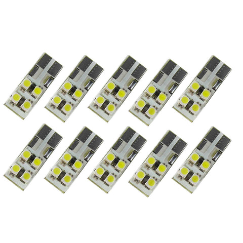 10PCS Ultra Blue T10 LED Bulbs Dome Map Light Car Interior High Power Lamps
