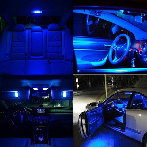 10x Blue LED License Plate Interior Light 12-SMD Bulb Wedge 168 T10 2825 194 W5W