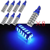 8X 8000k Super bright Blue 2825 T10 68-SMD LED Bulbs Parking Position Lights