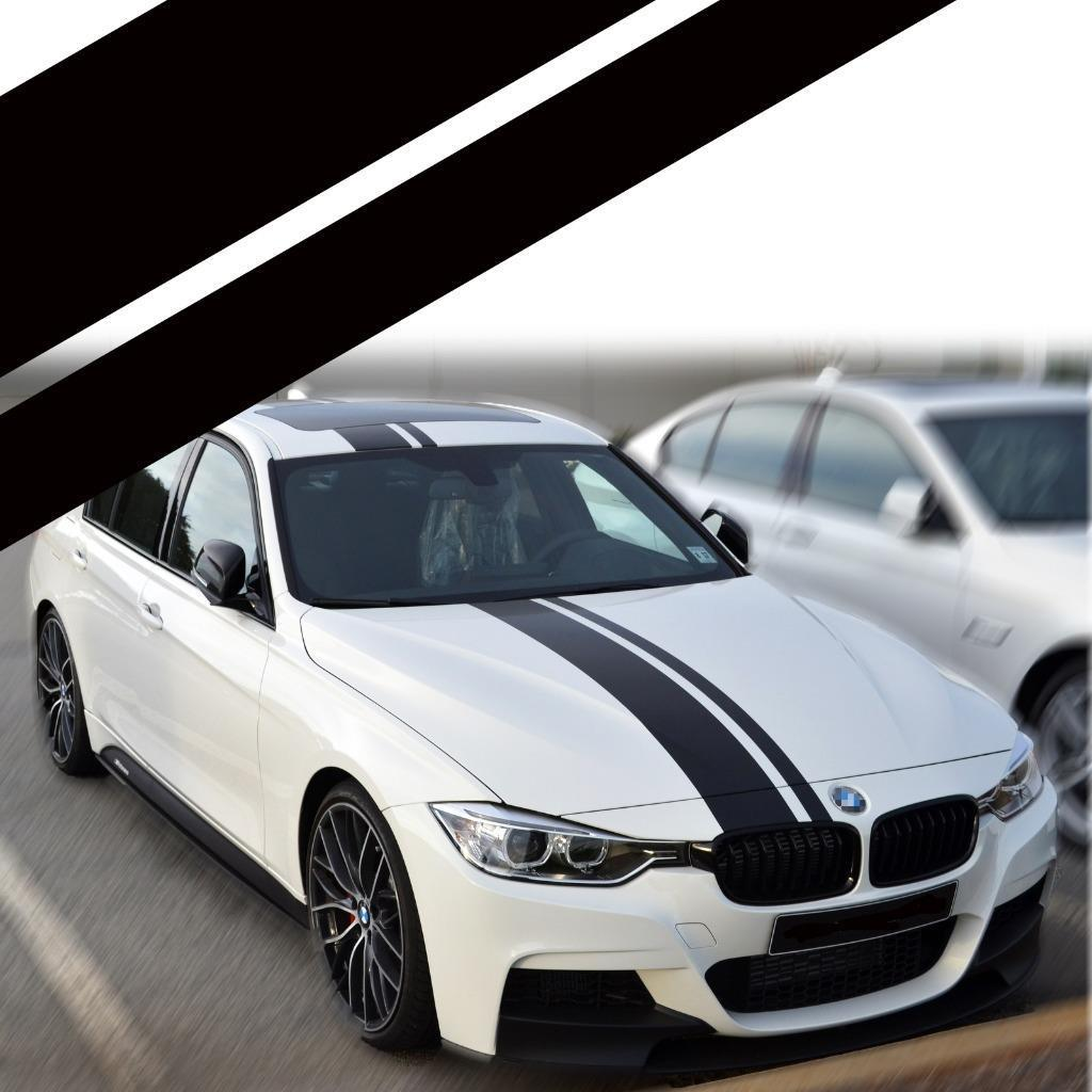 engine wiring harness  dual racing strips car sticker for bmw f10 e60  e64 e65 f30 f32 x1 x3 on