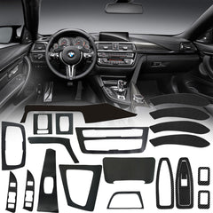 Carbon Fiber Vinyl Interior Decal Sticker Trim Package for BMW 3 Series F30 F31