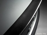 Rear Trunk Lid Spoiler Wing Carbon Fiber Trim for 2013 - 2016 Audi A4 B8.5 / Quattro 4-Dr