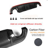 Carbon Fiber Rear Diffuser  S Style Bumper Lip Body Kit For Infiniti Q50 2014-17