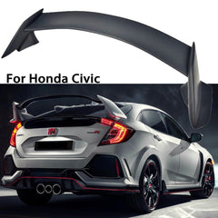 ABS Plastic Rear Trunk R Style JDM Spoiler Wing for 2016 2017 Honda Civic Sedan
