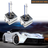 D1S D1R D1C OEM HID Headlight Replacement Light Bulb One Pair 6000K White 8000K Blue 10000K Deep Blue 12000K Purple