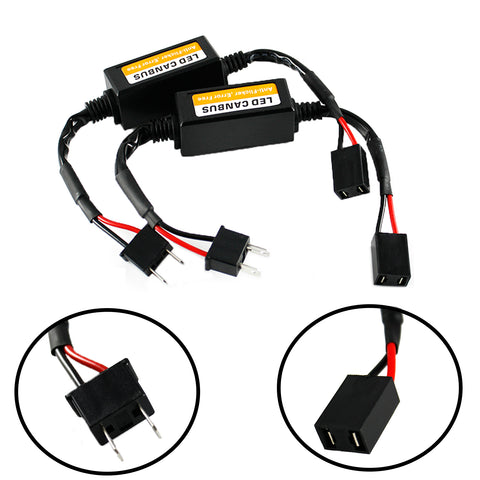LED Canbus Error Free Decoder Adapter Anti Flicker Flash Computer Warning Error Canceler For LED Headlights, Fog lights, DRL Bulbs H1 H3 H8 H9 H11 H4 9003 H13 H7 9008 9005 9006 9004 9007