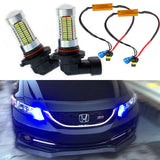 9005 HB3 106-SMD High Power LED Bulbs Ford Fog Lights Driving Lamps Replacement Xenon White/Ice Blue 6000K 8000K