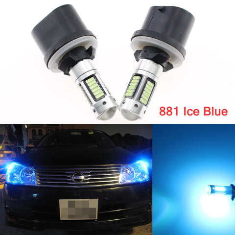 6000K Bright White / 8000K Ice Blue 880 899 Projector Lens Iceberg LED Fog Lamp Driving DRL Light