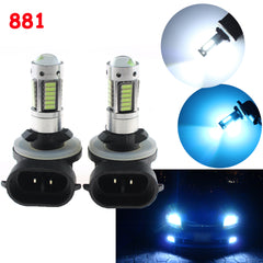 White / Ice Blue 881 862 886 6000K 10000K LED Bulbs for DRL Fog Driving Lights