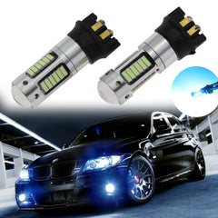 2X New PW24W Error Free Projector DRL Daytime Lights LED Bulbs BMW F30 3 Series etc[White 6000K / Ice Blue 10000K]