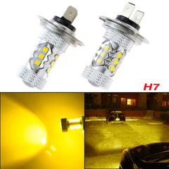H7 Gold Yellow 80W Projector Lens CREE LED Bulbs for Hyundai Daytime Running Light