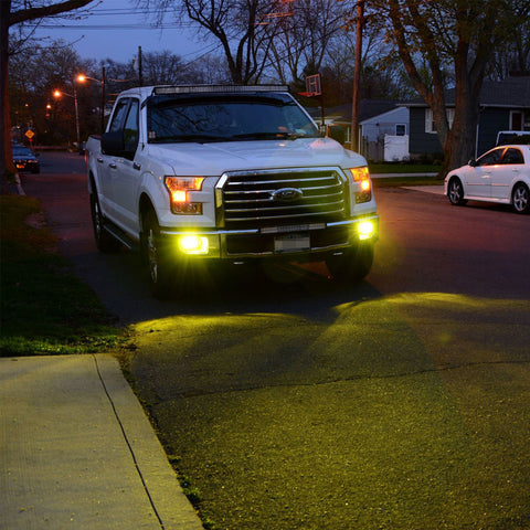 2x Gold Yellow 80W 9005 9006 H10 CREE LED Bulb for Ford F150 Fog Driving Lights