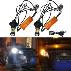 No Hyper Flash 1156B BAU15S Switchback LED CREE Bulbs for DRL Turn Signal Lights