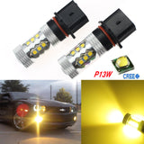 2x Gold Yellow 80W P13W CREE LED Bulbs for Chevrolet Camaro Mazda CX-5 Fog Light