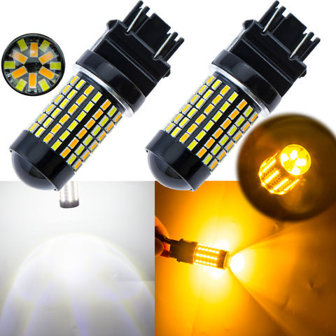 3157 Dual Color Switchback LED White Amber Bulbs for Parking Turn Signal Lights Fit Toyota Honda Ford Chevrolet Jeep etc