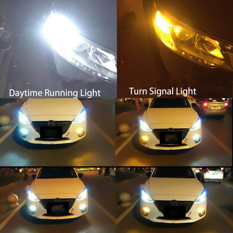 1157 Dual Color White 6000K\ Amber 3000K Switchback LED For Hyundai Kia Nissan Honda Acura Front Turn Signal Bulb Lamps
