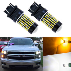 Dual Color White Amber 7443 7444NA 120 SMD Switchback LED Bulbs for Front Turn Signal Lights