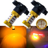 2x Amber Gold Error Free PY24W 5200s 60-SMD LED Audi BMW Land Rover Front Turn Single Lights