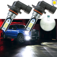 6000K Xenon White\ 3000K Gold Yellow H10 9145 CREE LED Bulbs for 2002-2017 Ford F-150 Buick Chevrolet Fog Driving Lights DRL