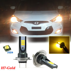80W H7 6000K High Power white\ 3000K Gold Yellow CREE Projector Lens LED Bulbs DRL Fog Light for Hyundai Mercedes-Benz