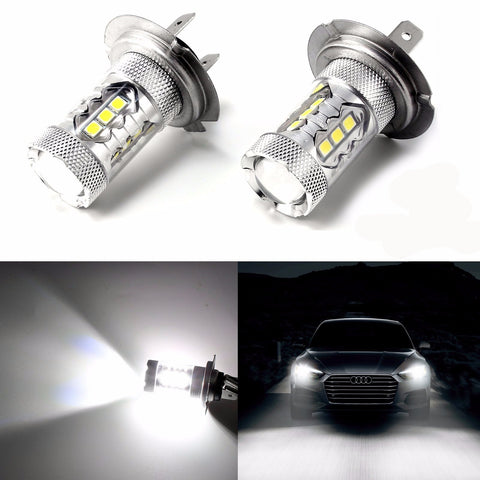 High Power Pure White 80W H7 CREE LED Bulbs for DRL Headlights Lights