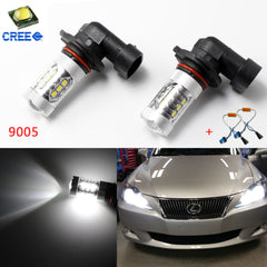 2pcs NEW White 6000K 80W CREE Error Free 9005 HB3 LED kit for Daytime Running DRL