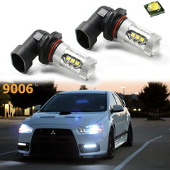 2x Super Bright White 9006 HB4 CREE LED 6500K For Fog Light Bulbs DRL Replacement