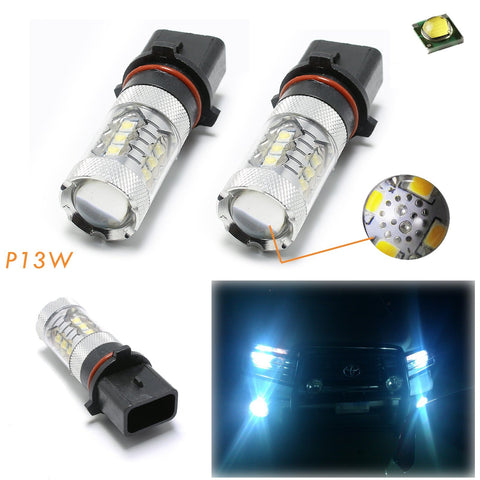 2x Super Bright Ice Blue 10000K P13W CREE LED Bulbs for DRL Daytime Running Fog Driving Lights
