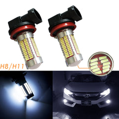 H8 H11 High Power White/Ice Blue 106-SMD LED 6000K/8000K DRL Fog Lights Bulbs Lamps Replacement