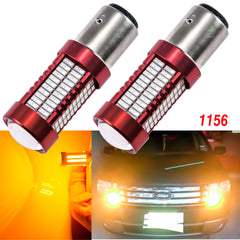 Super Bright 1156 7506 BA15S P21W LED Bulbs with Projector Lens Replacement for Backup Reverse Brake Tail Lights[Amber\ Red\ Ice Blue]