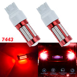New 7443 7440 T20 LED Bulbs 106 SMD with projector lens for Brake Turn Signal Light Lamp[Amber\Red\White]
