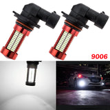New 9006 HB4 Projector Lens 106SMD LED Bulb Daytime Running Lights Fog Lamp[White 6000K / Ice Blue 10000K]