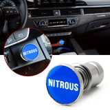 Car Cigarette Lighter Replacement, NITROUS Button 12V Accessory Push Button Fits Most Automotive Vehicles (Blue)