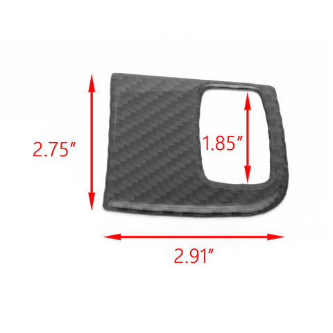 Carbon Fiber Engine Start Key Frame Cover Trim Decal For Audi A4 B8 A5 8T S5 2008-2015