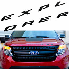 EXPLORER Emblem Decal Sticker Front Hood Rear Trunk Badge For Ford Matte Silver Chrome/Matte Black/Silver