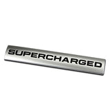 3D Metal SUPERCHARGED Emblem Trunk Lid Dash Sticker Fender Badge For Rang Rover