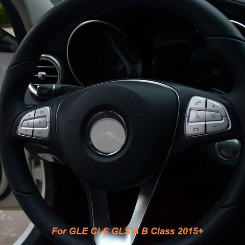 1Set Steering Wheel Button Cover Trim for Mercedes Benz GLE GLS A B GLA CLS Class