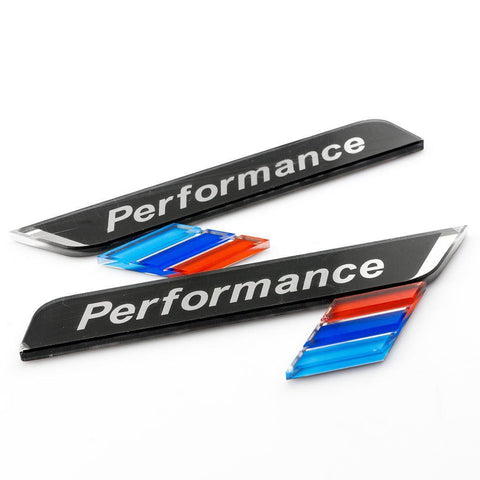 1 Set /// Performance Sports Door Window 3D Decal Emblem Sticker For BMW E60 E90 F30 F10 X1 X5