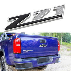 1X Black \ Red Z-71 Front Badge Emblem w/Grille Mount Insert Bracket For Chevrolet Avalanche Silverado Colorado Tahoe Suburban, etc