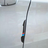 Balck Real Carbon Fiber M-color Car Side Door Edge Guard Protection Trims Stickers For BMW
