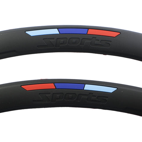 M Color Sporty Soft Fender Flare Arch Wheel Eyebrow Protector Strip For BMW