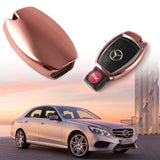 Smart Remote Key Soft Fob Cover Case For Mercedes C E S G CLS CLK SLK[Silver/Gold/Rose Gold/Blcak]