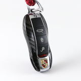 Real Carbon Fiber Key Fob Remote Cover Shell Case Fit Porsche 911 Cayenne Panamera Boxster Macan