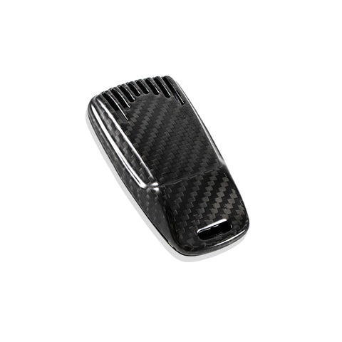 Real Carbon Fiber Remote Smart Keyless  Key Case Fob Shell Cover For Audi A4 A5 TT Q7 2016 and up
