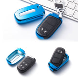 6 Colors Remote Smart Key Cover Keyless FOB Case Holder for Jeep Renegade Dodge[Silver\ Blue\ Black\ Red\ Rose Gold\ Gold]
