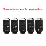 1x Glossy Rose Gold TPU SmartKey Remote Keyless FOB Case W/ Red Keychain For Jeep Dodge Chrysler