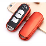Soft TPU Remote Keyless Fob Cover FOB Holder Case For Mazda 2 3 6 CX-7 MX-5 CX-9 RX-8[Silver\ Blue\ Black\ Red\ Rose Gold\ Gold]