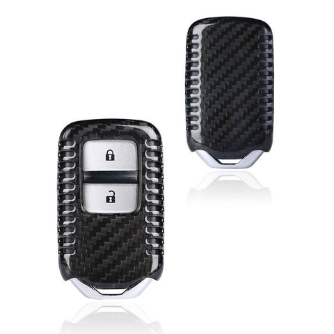 Carbon Fiber Smart Key Cover FOB for Honda Accord CR-V Civic Odyssey Crosstour