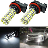 2x High Power Pure White 68 SMD H11 LED Replacement DRL Fog Lights Bulbs