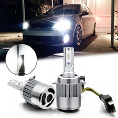 H7 LED Headlight Kit 6000K White with Retainer Adapter Clip Holder for Volkswagen VW Golf GTI Passat MK7 High Low Beam
